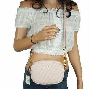 Michael Kors Rose MINI Oval Camera Xbody Bag Pink